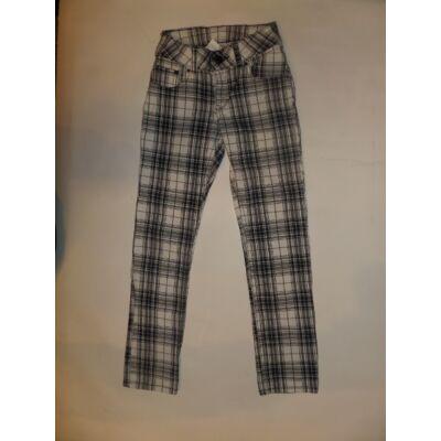 122-128-as fekete-fehér kockás lány nadrág