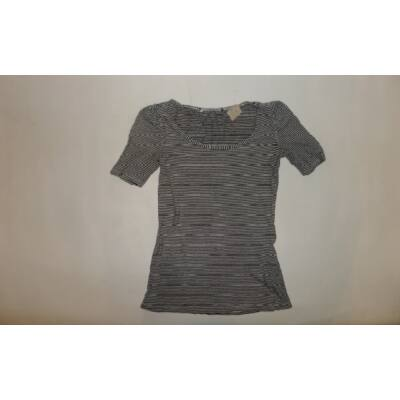 158-as fekete csíkos lány póló - C&A