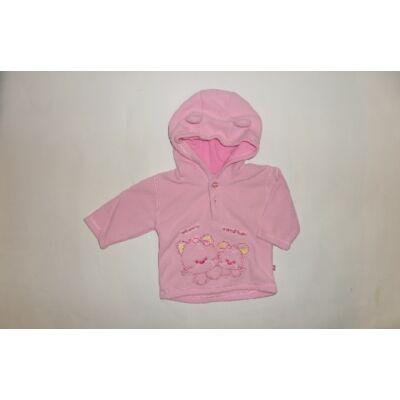 68-as rózsaszín polár cicás pulóver - Okay