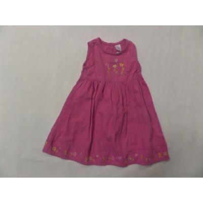 92-es rózsaszín hímzett virágos ujjatlan ruha