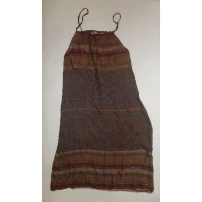 158-as barna csíkos pántos ruha