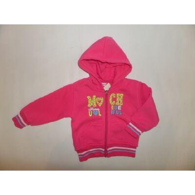 86-os pink lány pamutkardigán