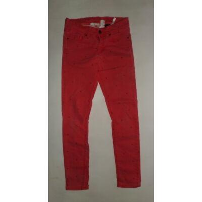 152-es piros pöttyös farmernadrág - H&M