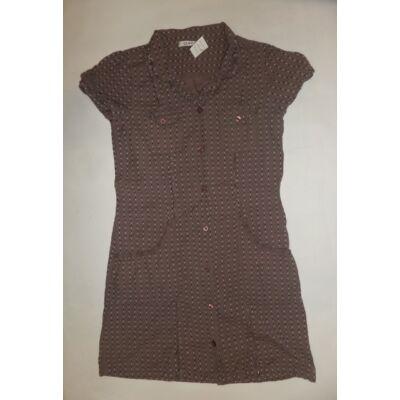 146-152-es barna pöttyös ruha - George