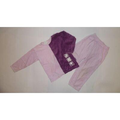 104-es lila-rózsaszín plüss pizsama