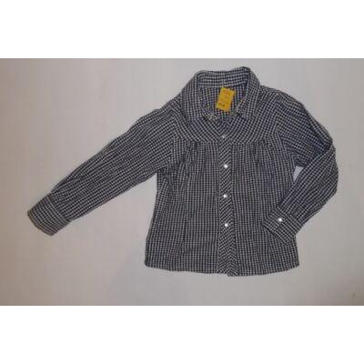 92-98-as fekete-fehér kockás hosszúujjú blúz