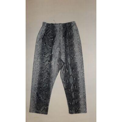 122-128-as szürke mintás leggings