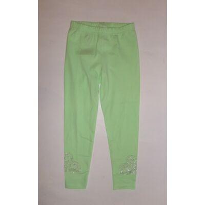 92-es almazöld strasszköves leggings - Kiki & Koko - ÚJ
