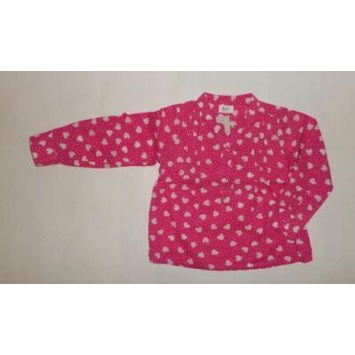 92-es rózsaszín szivecskés blúz - F&F