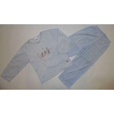 116-122-es világoskék lány meleg pizsama - C&A