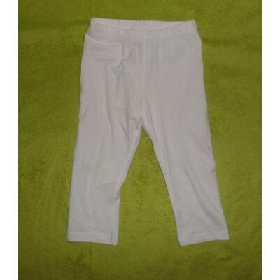 110-es háromnegyedes fehér leggings  -  Kiki & Koko - ÚJ