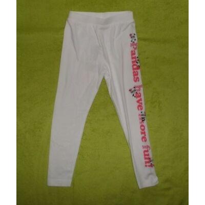122-es  fehér pandás leggings  -  Kiki & Koko - ÚJ