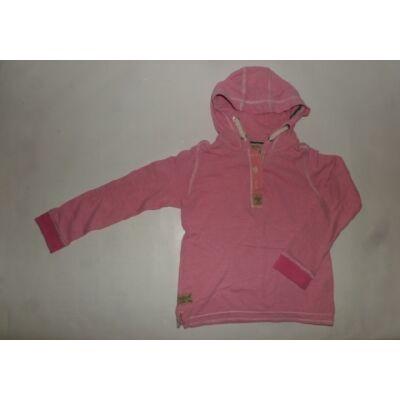 122-128-as rózsaszín csíkos pamut pulcsi - Next