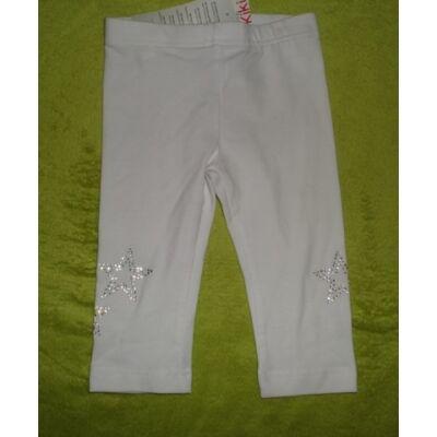92-es csillagos fehér leggings - Kiki & Koko - ÚJ