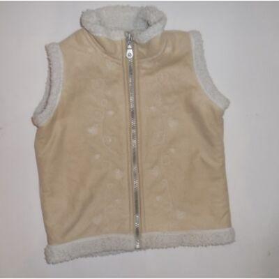 92-98-as drapp hímzett lány mellény - Mini Mode