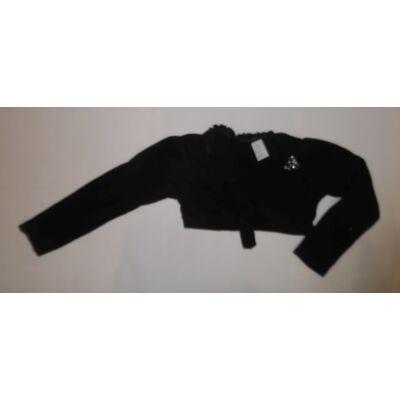128-as fekete fodros szélű boleró