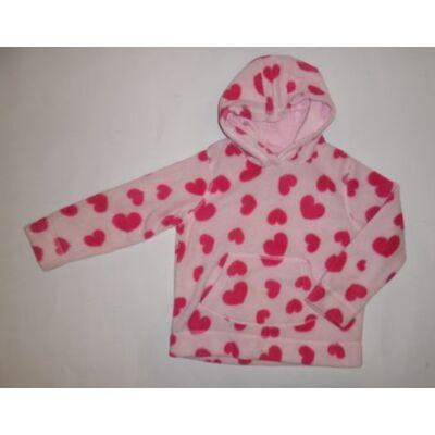 104-es rózsaszín szivecskés polár pulóver - Cherokee