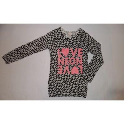 134-140-es pöttyös vékonyabb pulcsi - H&M