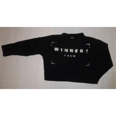 164-es fekete feliratos top jellegű pulóver - Zara