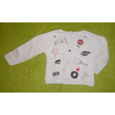 98-as fehér mintás pulóver - Zara