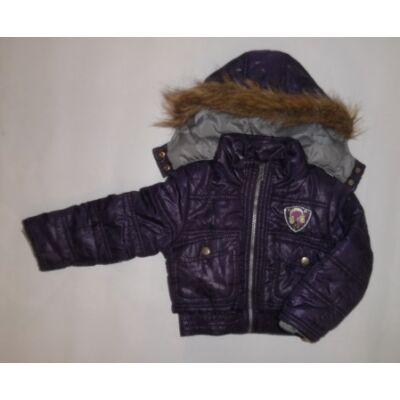 86-92-es lila lány vastagabb átmeneti kabát