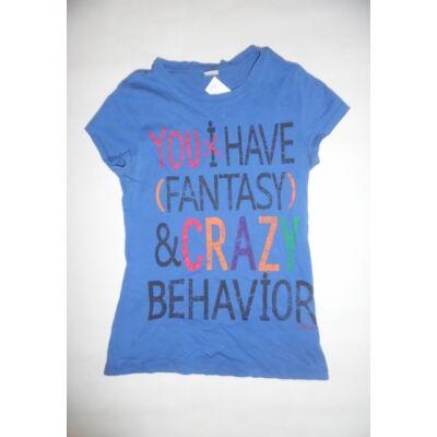 164-es kék feliratos lány póló - S.Oliver