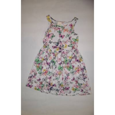 122-128-as fehér pillangós ujjatlan ruha - H&M