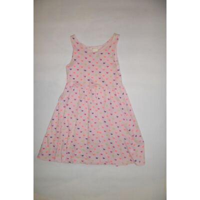 122-128-as rózsaszín pillangós ujjatlan ruha - H&M