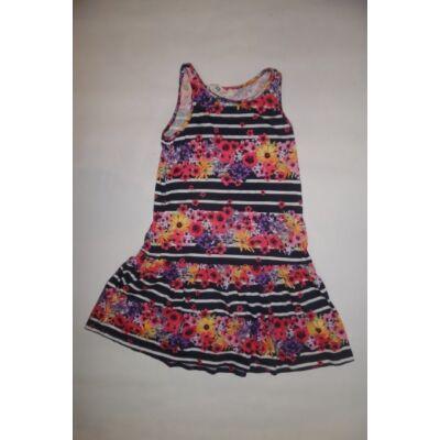 122-128-as színes virágos ujjatlan ruha - H&M