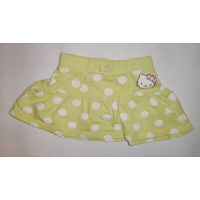 86-os sárga pöttyös pamut szoknya - Hello Kitty, C&A
