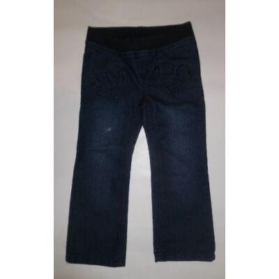 104-110-es kék szives farmernadrág
