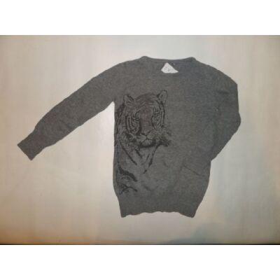 116-os szürke tigrises lány pulóver - F&F