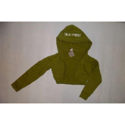 116-os zöld kapucnis lány bolero - Frendz