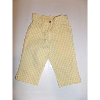 92-es sárga kockás térdnadrág - H&M