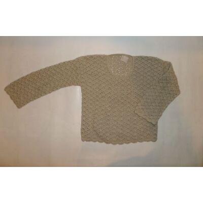 122-es drapp áttört mintájú pulcsi