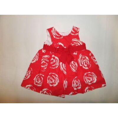68-as piros virágos nyári ruha - St. Bernard