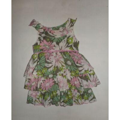 74-es zöld-rózsaszín virágos ruha