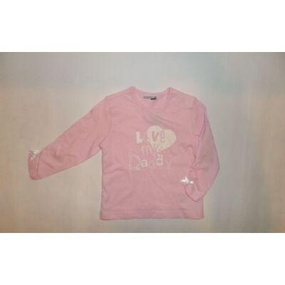 86-os rózsaszín feliratos pamutfelső - Ergee - ÚJ