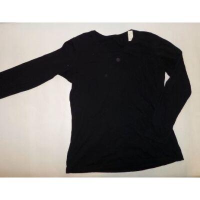 164-170-es fekete lány pamutfelső