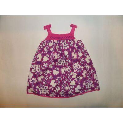 80-86-os lila-rózsaszín virágos ruha - Monsoon
