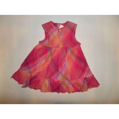 74-es rózsaszín kockás ujjatlan ruha