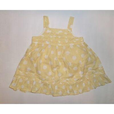 86-os sárga-fehér pöttyös ruha