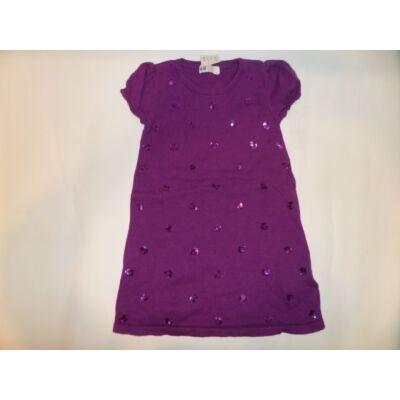 110-116-os lila kötött ruha - H&M