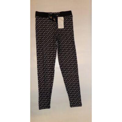 116-122-es fekete mintás nyári nadrág - ÚJ