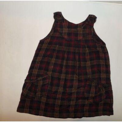 116-os barna kockás ujjatlan ruha - Zara