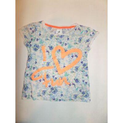 116-os kék virágos póló - C&A