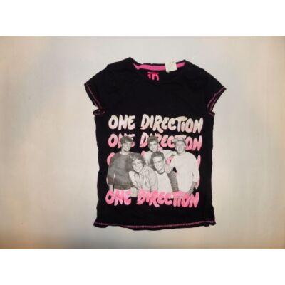 128-134-es fekete póló - One Direction