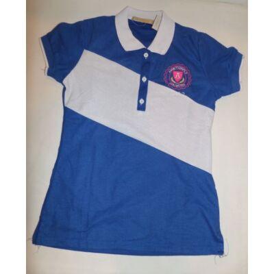 158-164-es kék-fehér lány póló