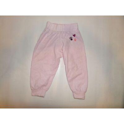74-80-as rózsaszín plüss nadrág - Lupilu