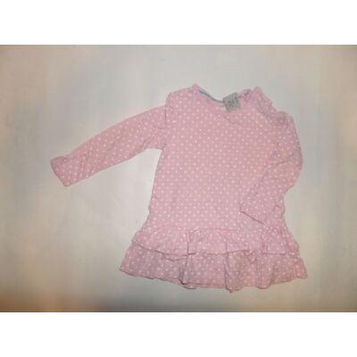 86-92-es rózsaszín pöttyös tunika - Lupilu
